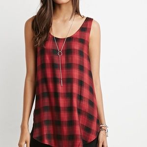 Forever 21 plaid tank top
